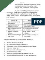 Common Nouns & Proper Nouns