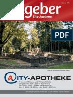 Ratgeber aus Ihrer City-Apotheke – Januar 2014