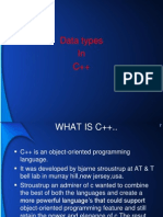 DATA TYPES IN DATA TYPES IN C++