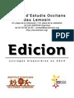 IEO Edicions 2013