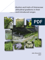 Patterns of Distribution of Asteraceae Forbs Along Gradients in Their Native and Introduces Ranges