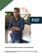 Deinstalling Oracle Database 11g on Wondows