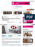 HSBC Gets Small Fine For Terrorist