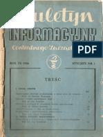 Biuletyn Informacyjny Centralnego Zarządu Aptek . Rok VI 1956 Styczeń  nr 1