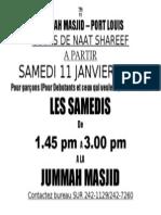 Lecons Naat Shareef 2014