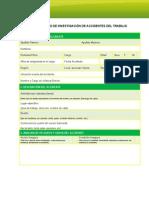 Formulario Investigacion Accidentes Trabajo ACHS