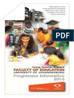 Education Programme Information 2014