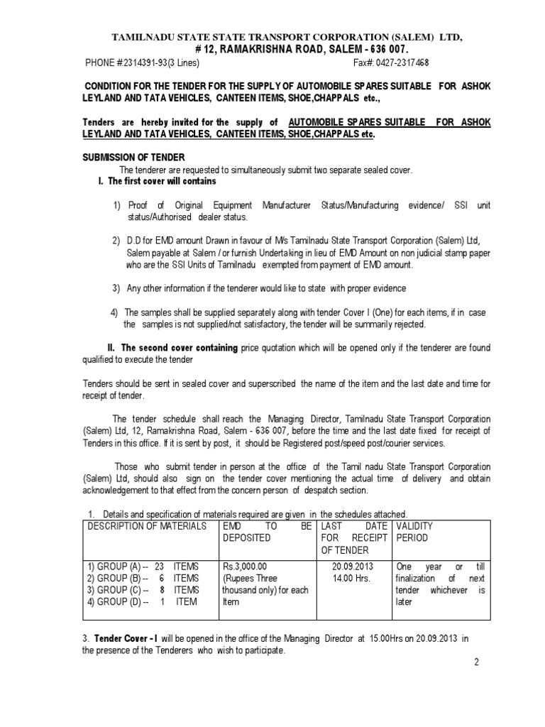 Salem corporation tenders dating