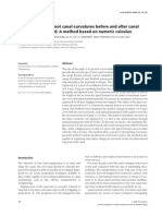 Determination of Root Canal Curvatures Before and After Canal Preparation (Part II