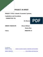 Islamic Economic System, Capitalism and Socialism
