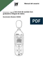 Sonometro HD600