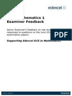 GCE Maths Examiner Feedback C1