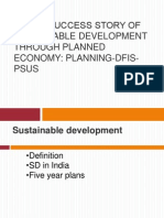 India's Success story of sustainable development through planned