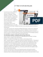 Alfredson Protocol - achille's tendonitis