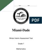 Winter 2013 Interim Assessment - Grade 7 Mathematics