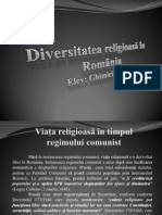 Diversitatea Religioasa in Romania