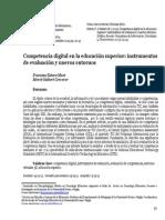 Competencia digital en la educación superior instrumentos de evaluación y nuevos entornos