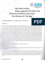 Endo Perio Lesion an Interdisciplinary Approach to Solve the Dilemma of Which Came First the Chicken or the Egg