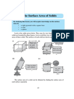 The surface area of solids