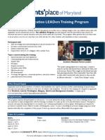 Leaders Training Flyer