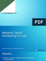 Architect Training - Architecting for Cost