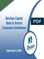 Sept 2009 Dean Foods DF Presentation