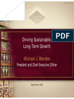 Sept 2009 Diamond Foods DMND Presentation