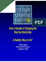 Sept 2009 Hain Celestian HAIN Presentation