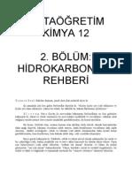 KİMYA 12   2. BÖLÜM; HİDROKARBONLAR REHBERİ