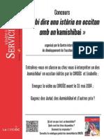 Règlement concours Sabi dire una istòria en occitan amb un kamishibai - français