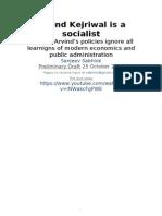 Arvind Kejriwal is a Socialist