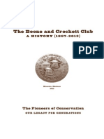 The Boone and Crockett Club History