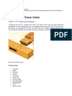 Artcl Mortise and Tenon Joints