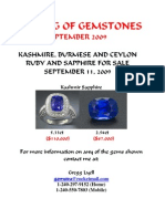 Burmese and Kashmire Gemstones