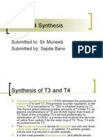 T3 and T4 Synthesis