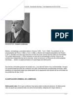 Biografia y Datos - Cesare Lombroso