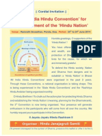 Invitation for 3rd All India Hindu Convention