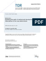 Crouch y Farrell - Breaking the Path of Institutional Development Alternatives to the New Determinism