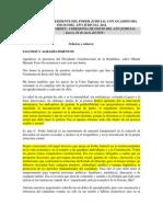 DISCURSO DEL PRESIDENTE DEL PODER JUDICIAL CON OCASIÓN DEL INICIO DEL AÑO JUDICIAL 2014