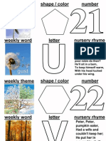 letter of the week 21-26