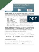 Noise Figure Measurement using a Spectrum Analyzer and Signal Generator