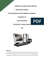 recomendaciones de medidas de seguridad computacional