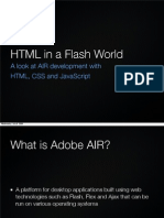 HTML in a Flash World - How to create Adobe AIR applications