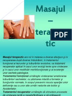 masajul, terapeutic