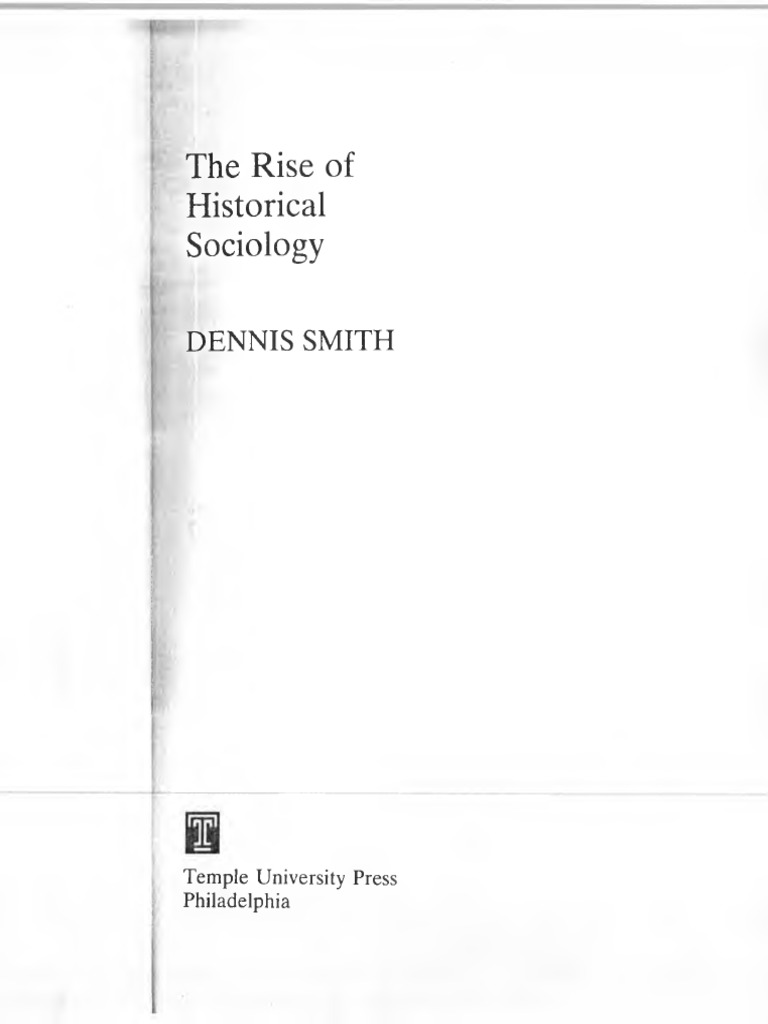 957b5a2b8b2 Smith Dennis The Rise of Historical Sociology libro Completo ...