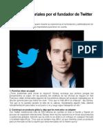 Tips Empresariales Fundador Twitter