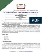 11. El Lenguaje Oral en El Desarrollo Infantil - JPR