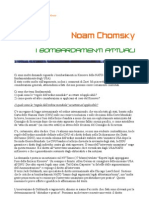 Chomsky - Bombardamenti attuali
