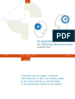 Guidelines for Effective Brainstorming