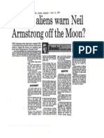Did the Aliens Warn Neil Armstrong